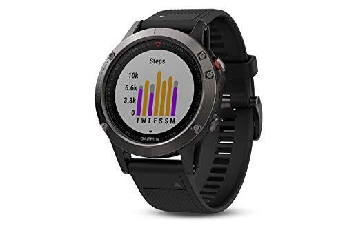 Garmin Fenix 5 Reloj GPS multideporte 47mm Gris Pizarra/Negro