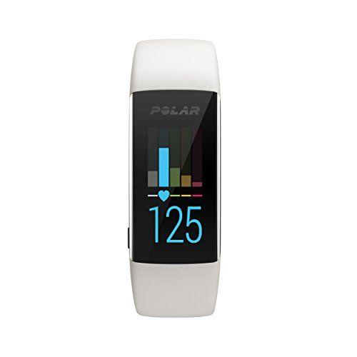 POLAR A370 Fitness Tracker Watch, White, M/L
