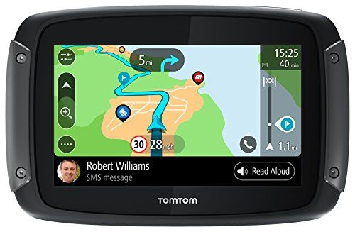 "Tomtom 1GF0.047.00 Rider 550 Motorcycle GPS Navigation Device with Built-in Wi-Fi and Free Lifetime Traffic and Map Updates of North America, 5"" - Black"