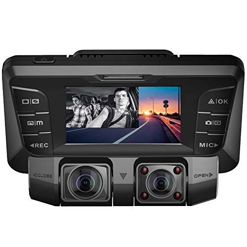 Pruveeo C2 Dash Cam Front and Rear, FHD 1080P + FHD 1080P Dual Camera, 2196P or 1440P Single Camera for Cars with Night Vision