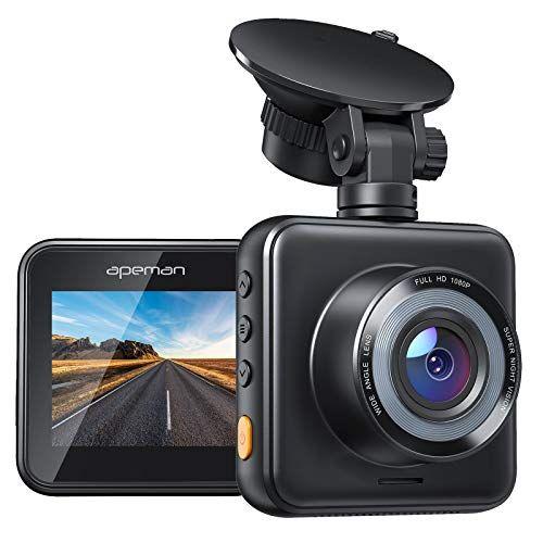APEMAN Dash Cam 1080P Full HD Mini Car Driving Recorder 170° Wide Angle, Motion Detection, G-Sensor, Loop Recording, Night Vision