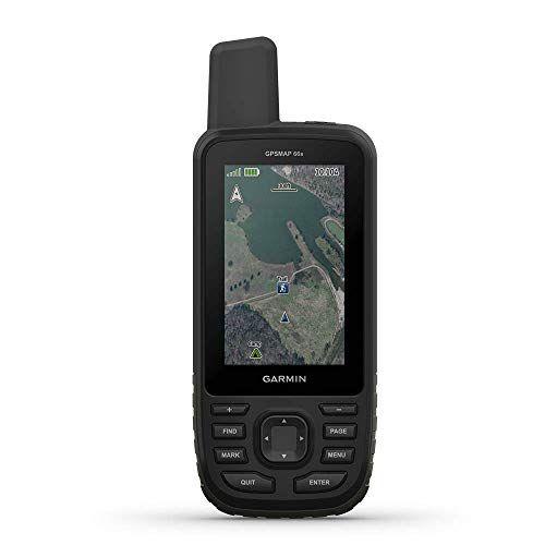 """Garmin GPSMAP 66st, GPS de senderismo manual con visualización a color de 3"""", mapas TOPO y soporte GPS/GLONASS/GALILEO (renovado), 66s, 1.27 inches"""