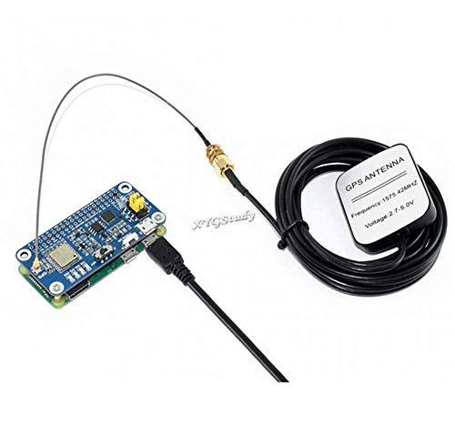 Raspberry Pi GNSS L76X GPS Hat soporta Sistemas Multi-GNSS GPS BDS QZSS soporta Interfaz DGPS SBAS UART con Antena Externa, módulo de Sistema de Seguridad PDA Industrial de Seguimiento @XYGStudy