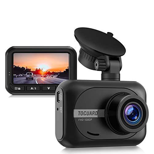 TOGUARD Mini Dash Cam 1080P Full HD Cámara de coche, 2.4 pulgadas 170° gran angular cámara para coche grabadora de conducción con WDR monitor de estacionamiento G-sensor y grabación en bucle