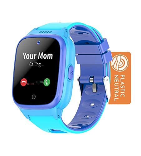 COSMO Smartwatch - 4G Kids Smart Watch – Includes 3 Months Unlimited Data - 2-Way Voice and Video Call - GPS Tracker - Invisible Fence - SOS Alerts - Water Resistant - Silicone Band - Blue