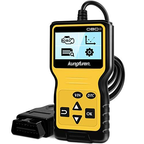 Kungfuren OBDII herramienta de escáner universal, lector de código OBD2 para automoción, analizador de errores de luz del motor, herramienta de análisis de diagnóstico de vehículos CAN para coches OBDII desde 1996