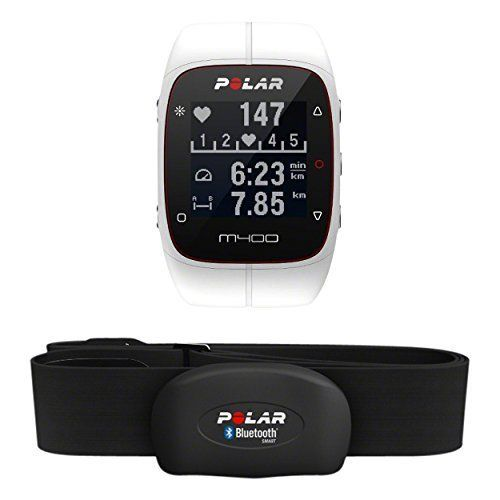 Polar M400 GPS Fitness Watch and Activity Tracker White