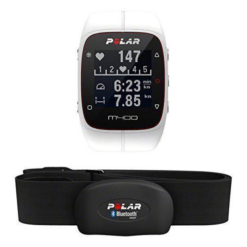 Polar M400 HR - Reloj de entrenamiento con GPS integrado y registro de actividad con sensor de frecuencia cardíaca H7, color blanco