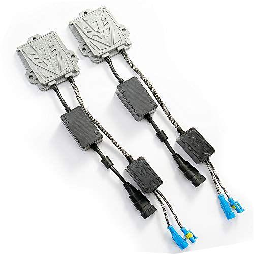 HYB Canbus Slim Digital HID Balasto 55 W libre de errores Cancelación de advertencia para HID Kit H11 H7 H8 H9 H4 H1 9005 9006 ajuste universal (paquete de 2)