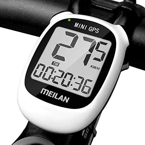 MEILAN M3 Mini GPS para Bicicleta, odómetro y velocímetro inalámbricos para Bicicleta, computadora para Bicicleta IPX5, computadora de Ciclismo Impermeable con Pantalla LCD (Blanco)