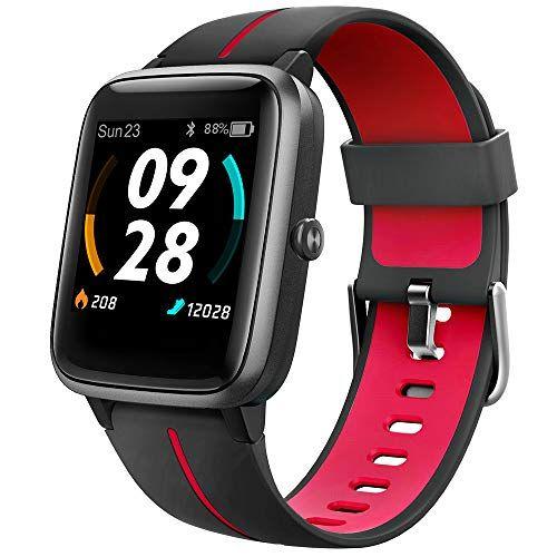 UMIDIGI Reloj inteligente GPS, rastreador de actividad física con monitor de ritmo cardíaco, pantalla táctil de 1.3 pulgadas, podómetro, reloj inteligente para hombres y mujeres, resistente al agua 5 ATM, compatible con iPhone, Samsung, Android