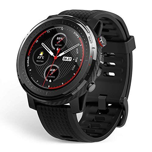Amazfit T-Rex Smartwatch - Reloj Inteligente con Certificado Militar estándar, Cuerpo Duro, GPS, 20 días de duración de la batería, visualización AMOLED de 1,3 Pulgadas, Stratos, n/a, Negro