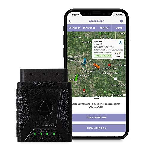 LandAirSea SilverCloud Sync Real Time GPS OBD II Vehicle Tracker Featuring Driver Behavior, Diagnostics, Tracking Alerts, Geofencing, Roadside & Theft Assistance