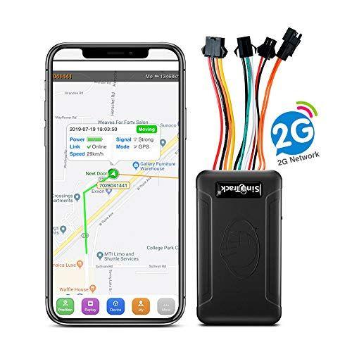 Rastreador GPS SinoTrack para vehículos ST-906, localizador de dispositivos de rastreo GPS en tiempo real con alarma antirrobo, botón SOS Localización de voz para coches y motocicletas, plataforma de seguimiento de por vida