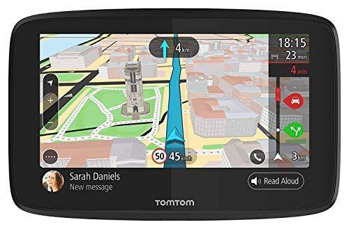 Tomtom Go 620 6 Pulgadas GPS Dispositivo de navegación con tráfico en Tiempo Real, mapas del Mundo, conexión Wi-Fi, mensajería por Smartphone, Control de Voz y Llamadas Manos Libres