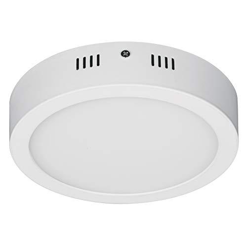 Round ceiling, modern, 12W, 6500K, LED, white