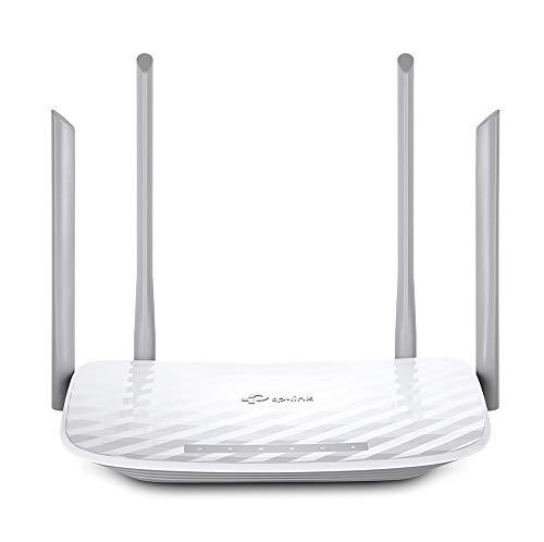 TP-Link Archer C50 Router Wi-Fi de Banda Dual Router Inalámbrico AC1200, 300Mbps en 2.4 Ghz y 867 MBps en 5 GHz, 4 Antenas, blanco