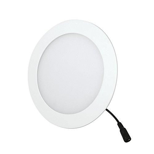 Aksi 117903 Luminario Empotrable Circular, Luz Blanca, 6 W, Diámetro 12 cm