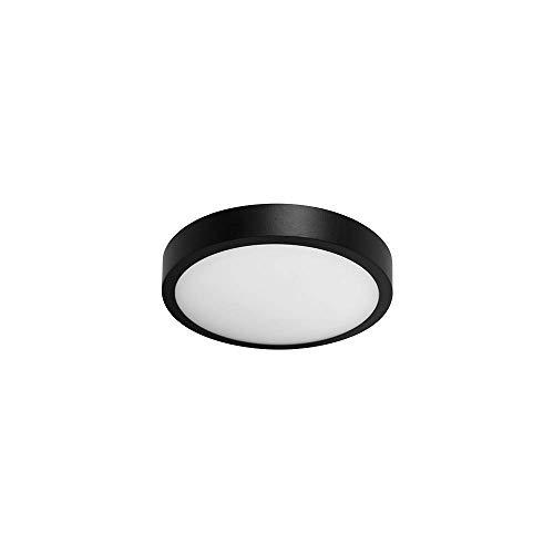Illux de México TL-2815.N40 Luminario Redondo Slim para Sobreponer en Techo, color Negro, Mediano