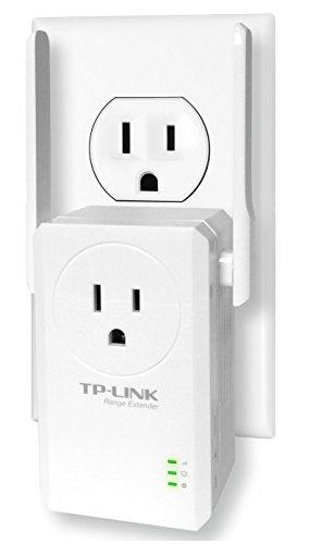 TP-Link TL-WA860RE Extensor de Rango Inalámbrico N 300Mbps de Pared con AC Conector Eléctrico Frontal, 2.4GHz, Botón Extensor de Rango, 2 Antenas Fijas