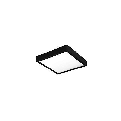 Illux de México -TL-2816.N40- Luminario led cuadrado de sobreponer en techo, color negro, consume 15 W, luz neutra de 4 000 K es de uso interior y de fácil instalación, Mediano