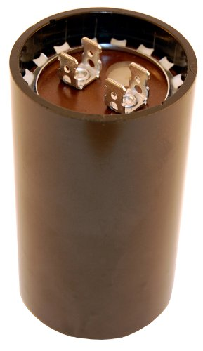 """NTE Electronics MSC125V216 Series MSC Motor Start AC Electrolytic Capacitor, Two 0.250"""" Quick Connect Terminals, 216-259 µF Capacitance, 110/125V"""