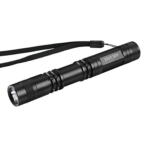 Joly Joy Small Tactical Flashlight, 5 Light Modes for Camping and Hiking, Aluminum LED Torch IP65 Water-Resistant, Long Life CREE LED, 2xAA Battery Powered (Not Included)