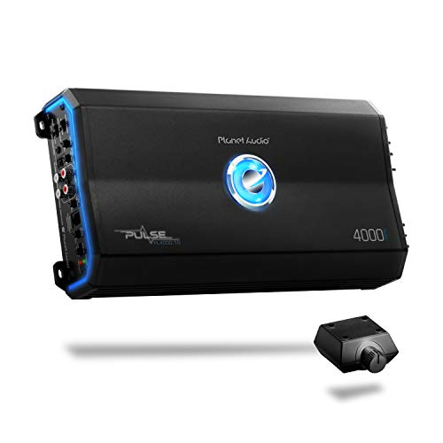 Planet Audio Pulse Amplificador de Coche Stable Class A/B, Monoblock, Mosfet con Control Remoto de subwoofer, 4000 vatios, monobloque, 4000 Watt
