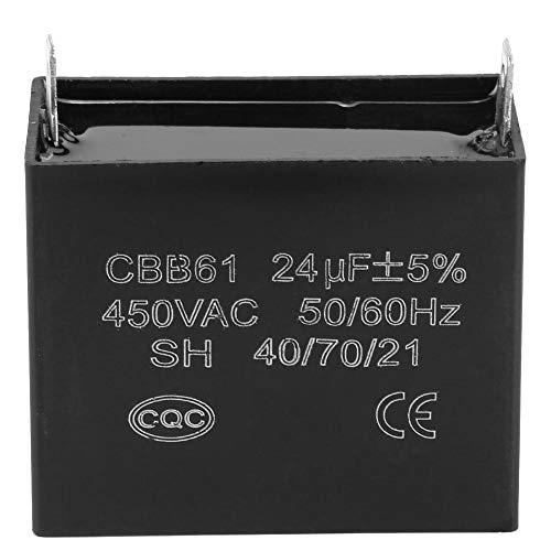 Starting Capacitor, CBB61 AC Capacitor 450V AC 24uF 50/60Hz for 400/350/300/250VAC UL/RU Listed Motor Capacitor