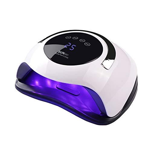 Lámpara de uñas UV LED de 120W, secador de uñas Yueliang Faster para esmalte de gel con 4 temporizadores Lámpara de gel profesional Lámpara de curado con mango portátil para máquina de uñas con sensor de uñas y uñas de los pies