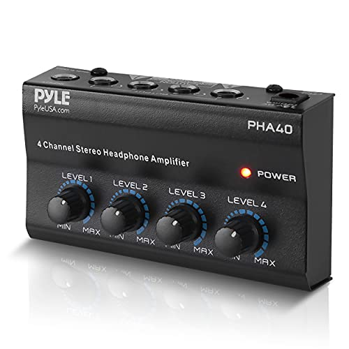 Pyle-Pro PHA40 4-Channel Stereo Audífono Amplifier