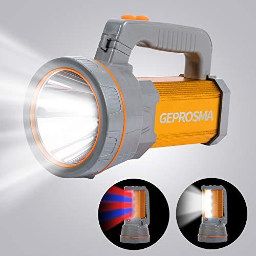 Linterna reflector LED manual ultra brillante y recargable de alta potencia