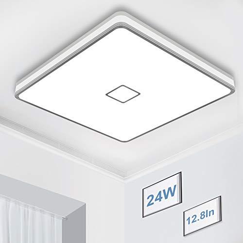 Airand - Lámpara de techo LED de 5000 K, cuadrada para pasillo, resistente al agua, sin parpadeo, IP44 80Ra+ luz de día, luces de techo de color blanco, montaje empotrado para dormitorio, cocina, cuarto de baño, lavandería (blanco diurno).