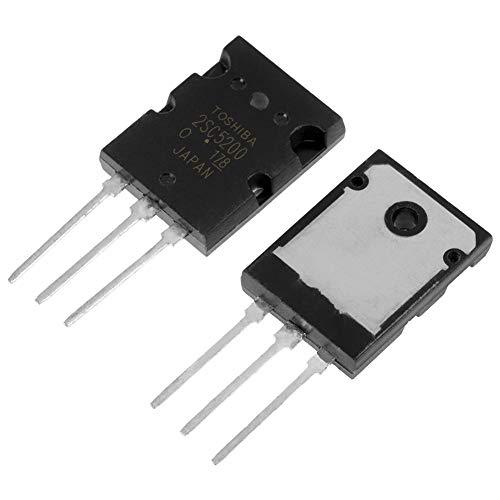 Wendry Transistor de Audio, 5 Pares Negro 2SA1943 2SC5200 Transistor de Audio Combinado de Alta Potencia, 100% Nuevo y de Alta Calidad, Conveniente para reemplazar el Roto, con una Larga Vida útil