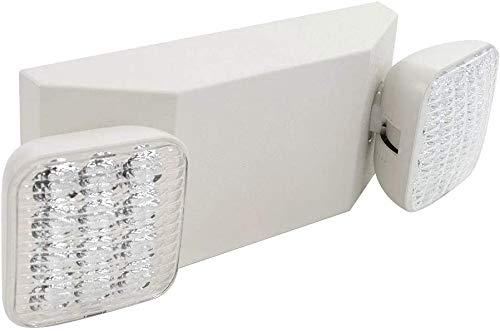 Litufine - Luces LED de emergencia con 2 cabezales LED, luz de emergencia comercial con batería de respaldo, certificación UL 924 y CEC, 120 – 277 voltaje (1 unidad)