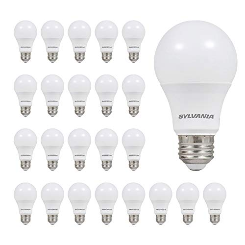 LEDVANCE SYLVANIA 74765 A19 LED Light Bulb, 60W Equivalent, Efficient 8.5W, Not Dimmable, Color Temperature, 24 Pack, Soft White (2700K), 24 Count