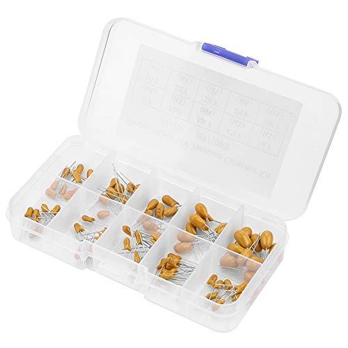 Durlclth Capacitor Tantalum-100pcs 10 Values 16V 1 uf - 100 uf Tantalum Capacitors Assorted Kit with Box
