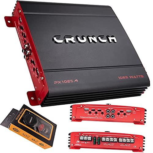 Crunch PX-1025.4 1000W Powerzone Series 2-ohm Estable 4-Channel Class-A/B Amplificador con Gravity Magnet Phone Holder Bundle