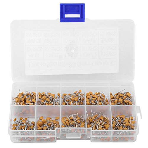 Capacitor, 500pcs 10 Values 50V 1NF(102)-68NF(683) Ceramic Capacitor Electronic Monolithic Capacitor Assorted Kit
