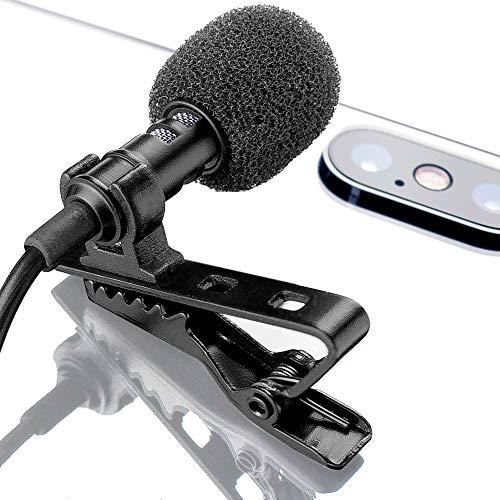 Micrófono Omnidireccional De Micrófono De Solapa Lavalier Con Sistema De Clip Fácil Perfecto Para Grabar Youtube/entrevista/video Conferencia/podcast/dictado De Voz/iphone