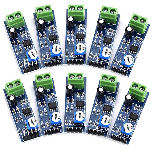 abcGoodefg LM386 - Amplificador de potencia de audio (10 unidades, 200 veces, amplificador de potencia overol para Arduino EK1236 HiFi DIY