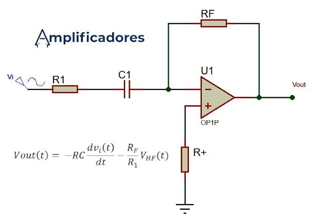 Amplificador derivador con formula