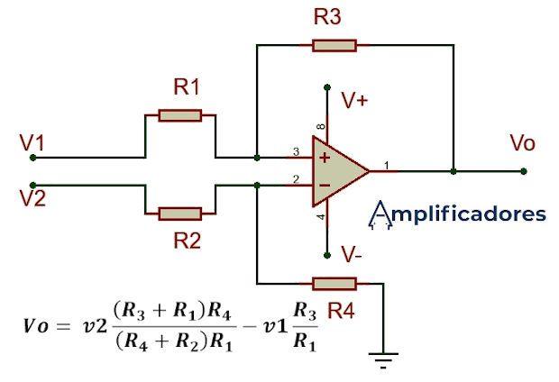 Amplificador diferencial formula