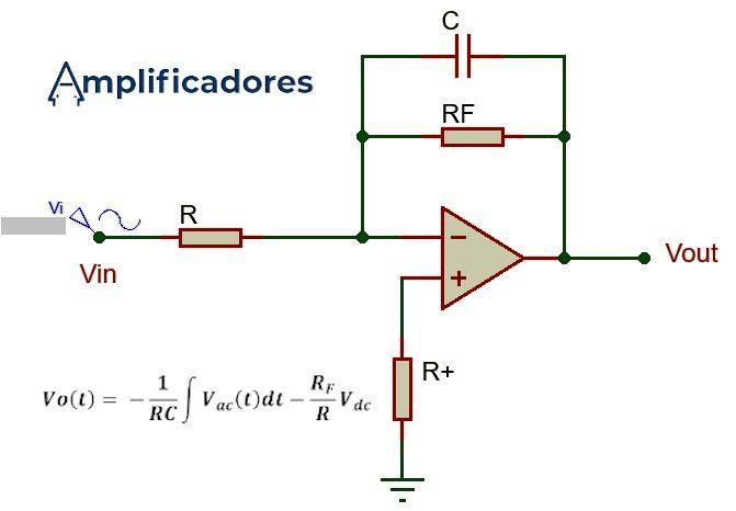 Amplificador operacional integrador con formula
