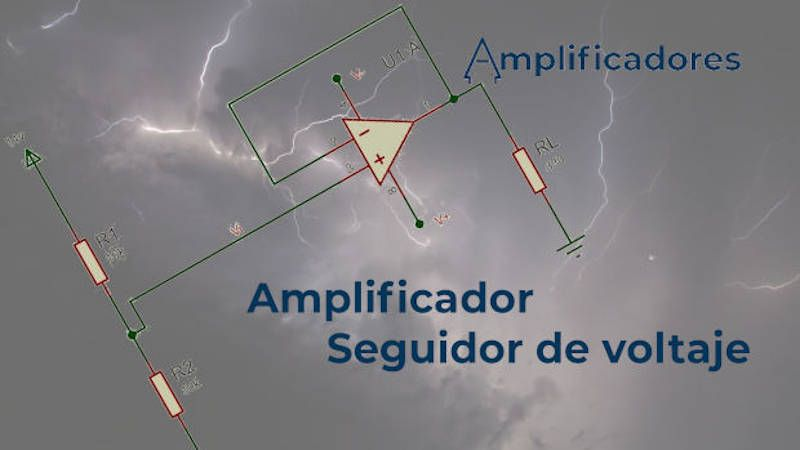 Funcionamiento del Amplificador seguidor de voltaje y sus características