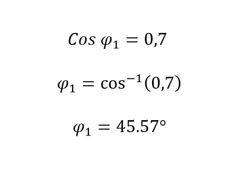 Calculo del angulo de desfase inicial de la corrección del factor de potencia