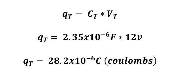 Calculo de la carga eléctrica en un circuito de capacitores conectados en paralelo