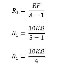 Calculando la resistencia R1 del amplificador no inversor