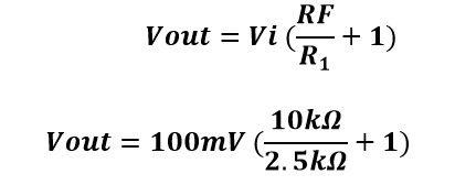 Calculo del valor de voltaje de salida del amplificador no inversor