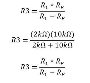 Calculo de la resistencia R3 en un ampop inversor
